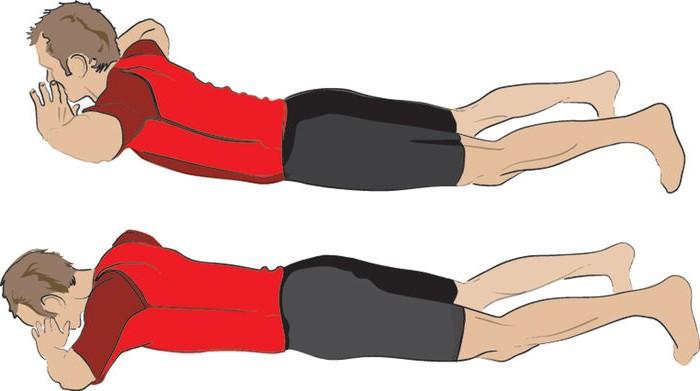 Гиперэкстензии на полу для велосипедистов