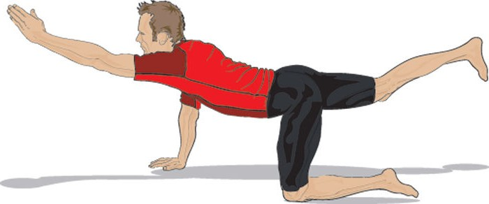 Упражнение супермен для велосипедистов