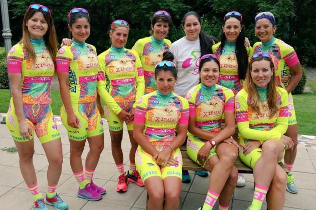 Велоформа женской команды из Аргентины Xirayas de San Luis